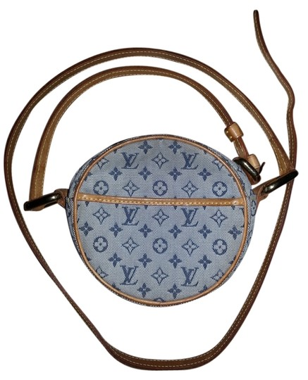 Preload https://item5.tradesy.com/images/louis-vuitton-mini-jeanne-blue-canvasleather-cross-body-bag-2100834-0-0.jpg?width=440&height=440