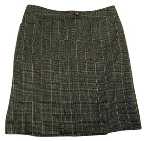 Ann Taylor Skirt Green Brown White