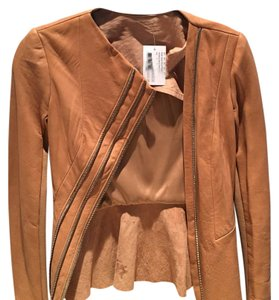 Willow & Clay nude pink Leather Jacket
