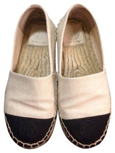 Tory Burch Tory Espadrille Khaki and Black Flats