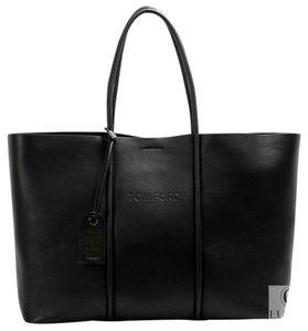 Tom Ford Tubo Horizontal Handbag Tote in Black