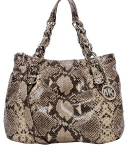 Michael Kors Brown With Silver Messenger Bag