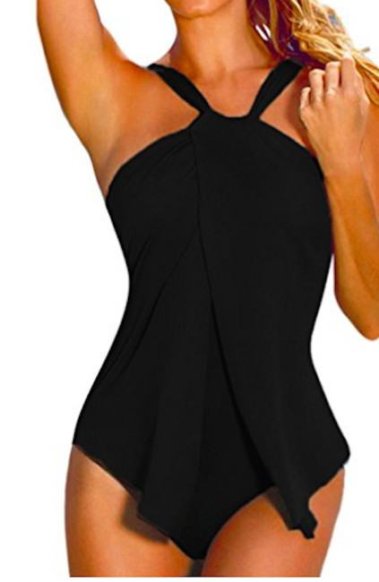 Brandless Brandless different available sizes and colors halter neck swimsuit Image 5