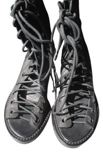 Ann Demeulemeester Lace Up Heels black Boots