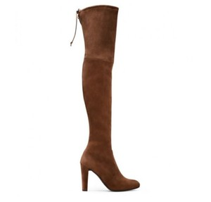 Stuart Weitzman Suede Sexy Over-the-knee Celebrity Syle Walnut Suede Boots