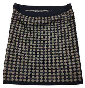 Club Monaco Mini Mini Skirt Blue and Tan