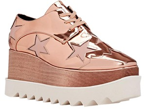 Stella McCartney Oxford rose gold Platforms