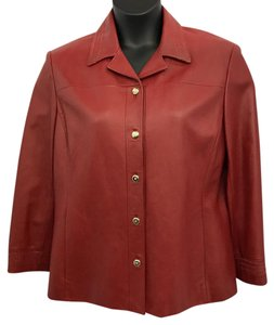 St. John Sport by Marie Gray St. Red Leather Leather Jacket