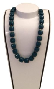 Anthropologie jade green faceted necklace