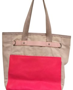 Lululemon Tote in pink and off-white
