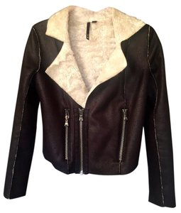 JOE'S Motorcycle Faux Shearling Faux Leather Motorcycle Jacket