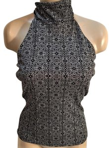Kenneth Cole Black & White Halter Top