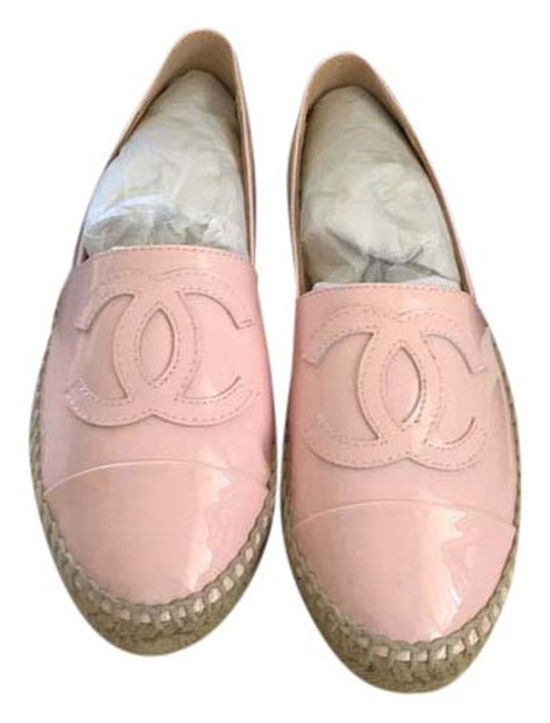 Item - Pink Patent Leather Espadrilles Flats Size US 7 Narrow (Aa, N)