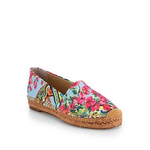 Dolce&Gabbana Canvas Casual Blue/Multi-Color Flats