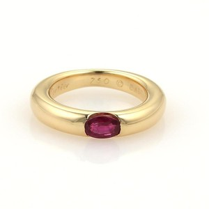 Cartier Cartier Ellipse Oval Ruby 18k Yellow Gold Band Ring Size EU 47-US 4