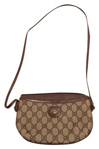 Gucci Vintage Monogram Brown Cross Body Bag