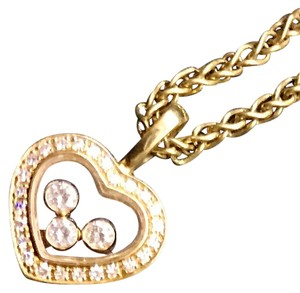 Chopard Chopard 18kt yellow gold Happy Diamonds Necklace