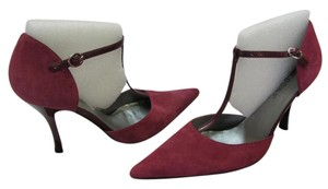 BCBGeneration New Suede Leather Size 8.00 M Excellent Condition Plum Pumps
