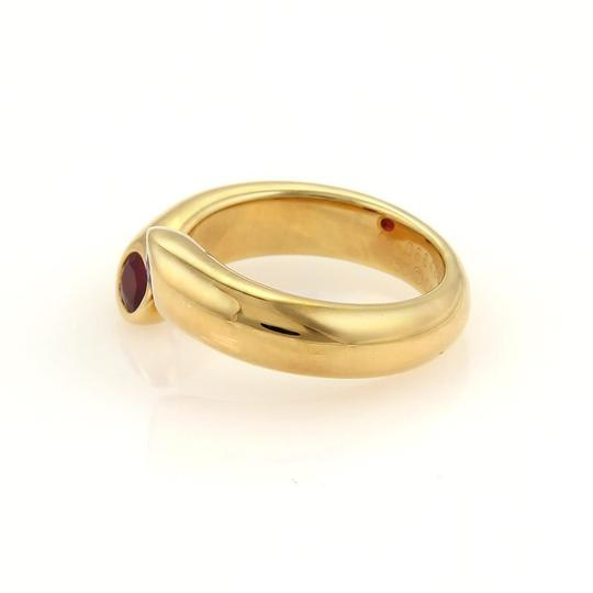Cartier Cartier Gold Ellipse Deux Tetes Croisees Rubies 18k YGold Bypass Ring Image 2