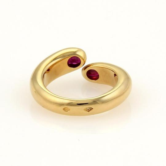 Cartier Cartier Gold Ellipse Deux Tetes Croisees Rubies 18k YGold Bypass Ring Image 3