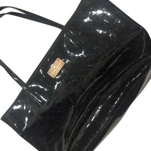 Kate Spade Patent Leather Tote in black