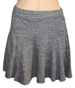 Silence + Noise Mini Flare Marled Elastic Waist Casual Mini Skirt GRAY