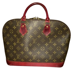 Louis Vuitton Lv Vuitton France Handbag Tote Satchel in Brown Monogram