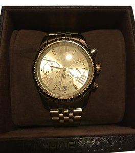 Michael Kors Lexington Midsize Gold-Tone Watch