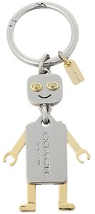 Coach Coach Silver & Goldtone Robot Movable Limb Key Ring FOB 65429