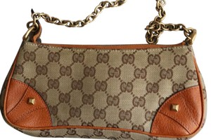 Gucci Beige/Orange Clutch