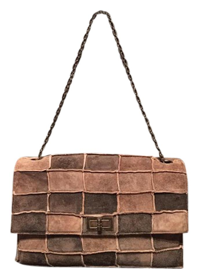 1f79b3e198a8 Chanel Mademoiselle 2.55 Reissue Patchwork Brown Suede Shoulder Bag -  Tradesy