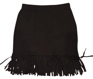 Rebecca Minkoff Fiesta Fringe Mini Skirt Black