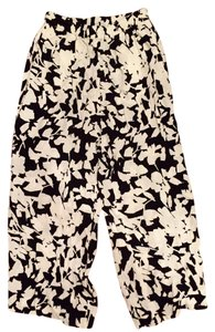 Kate Spade Floral Relaxed Pants Black & White