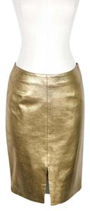 L'AGENCE Mini Skirt Gold