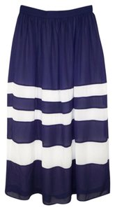 Anthropologie Sunday In Brookly Striped Color-blocking Maxi Skirt