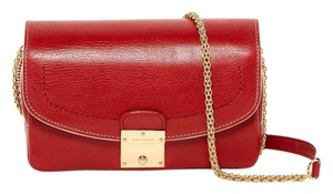 Marc Jacobs Crossbody Clutch Red Polly Shoulder Bag