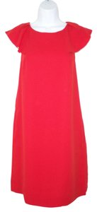 Banana Republic short dress Shift Flutter Crepe Red on Tradesy