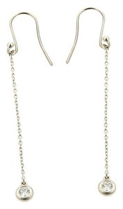 Tiffany & Co. Peretti Diamond By The Yard Sterling Silver Drop Dangle Earrings
