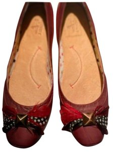 J SHOES Red Flats