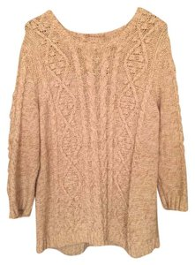Lands' End Knit Fisherman Cable Knit Sweater