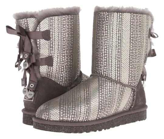 UGG Boots Bailey Bow Bling GREY Boots