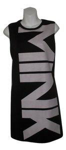 Rebecca Minkoff Polyester Logo Fitted Print Dress