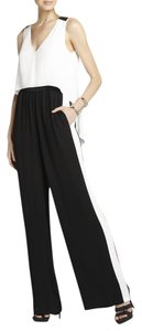 BCBGMAXAZRIA Wide Leg Pants Black and White