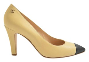 Chanel BEIGE BLACK Pumps