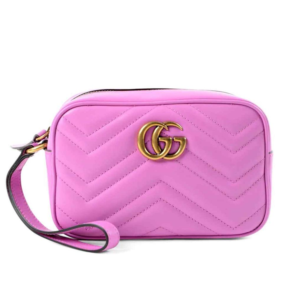 68f88785e15f Gucci Marmont Clutch Gg Quilted Matelasse Chevron Small Zip Wallet ...