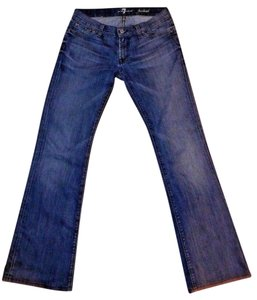 7 For All Mankind Stretchy Five Pocket Boot Cut Jeans-Medium Wash