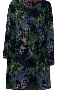 Tory Burch short dress Blue, green, white on Tradesy