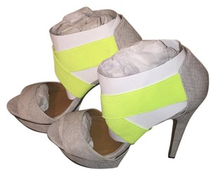 Michael Antonio Neon green and gray Platforms
