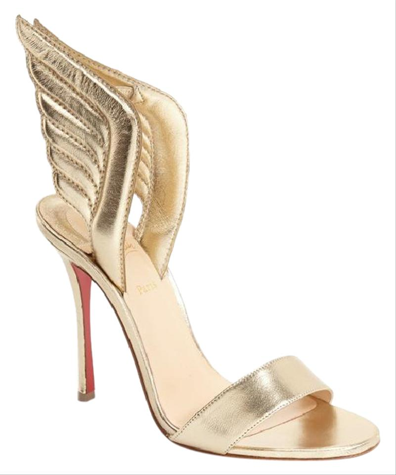 Christian Louboutin Light Gold Samotresse Wing Metallic Leather ... 086a78da8