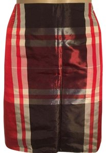 Les Copains Skirt Red & Brown